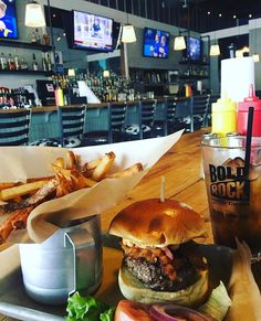There's not much better than a classic line-up of burgers, an ice cold drink, and a large heaping order of fries from LTO Burger Bar. // #yeahTHATgreenville #greenvillesc #southcarolina #thingstodoingreenvillesc #upstateSC #discoverSC