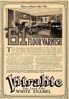 "1912 Ad Pratt & Lambert Varnish Vitralite & ""61 Floor - ORIGINAL ADVERTISING GM1"