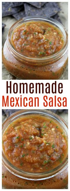 Whip up this easy authentic homemade Mexican salsa in under 5 minutes!