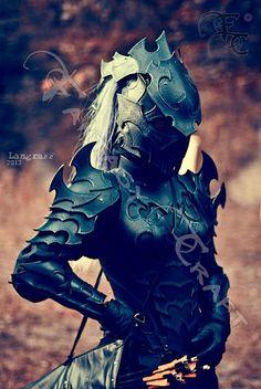 Drow or Dark Elf leather corset armour by ~I-TAVARON-I on deviantART