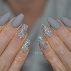 Most Popular Ways to Wear Grey Nails You Don't Know ❤ Sparkly Glitter Grey Nails picture 2 ❤ Gray nail art designs are far fancier than you can imagine. So we have decided to treat you with a nice and trendy portion of grey nail art to get inspired with. https://naildesignsjournal.com/grey-nails-designs/  #nails #nailart #naildesign #greynails