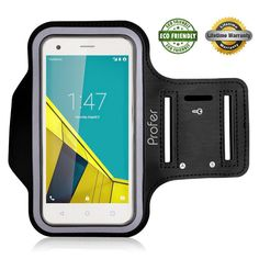 Profer Sports Armband Case Cover for Vodafone Smart Ultra 6, Key Holder & Card Slot, Water Resistant, Sweat-proof