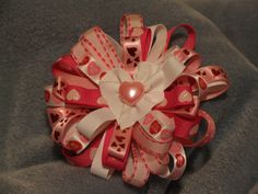 Valentine Sweet Heart Clip Pink by ang744 on Etsy, $7.00