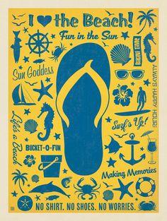 Flip Flop Pattern Print