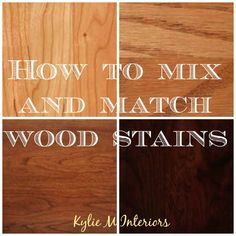 how to mix and match wood stains and types including oak, cherry, maple and more. including undertones for flooring, cabinets and more House has cherry wood, not thrilled Staining Cabinets, Maple Cabinets, Cherry Cabinets, Cherry Wood Floors, Maple Floors, Cherry Wood Stain, Wood Floor Stain Colors, Wood Colors, Paint Colors