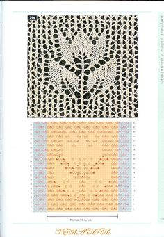 The new knitting stitch library Lace Knitting Stitches, Lace Knitting Patterns, Knitting Charts, Lace Patterns, Knitting Designs, Knitting Projects, Baby Knitting, Stitch Patterns, Tricot D'art