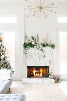 Marble Marvel - How To DIY Your Holiday Mantel - Photos