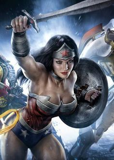 When are we gonna get a Wonder Woman movie??? Who would you pick to direct? A. - Joss Whedon, B. - J.J. Abrams, C. - Kathryn Bigelow or D. - ? Art from Infinite Crisis Game.