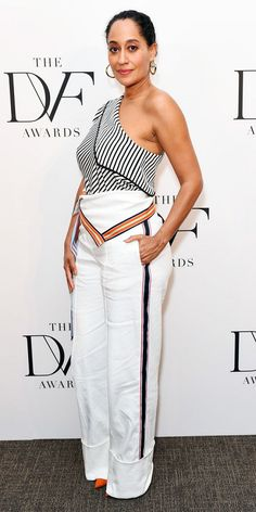 Women S Fashion For Broad Shoulders Info: 1809289844 Fashion Pants, Star Fashion, Fashion Outfits, Womens Fashion, Tracee Ellis Ross, Celebrity Look, Celeb Style, Budget Fashion, White Fashion