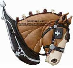 36-KW181+-+Clydesdale+Head+Intarsia+Woodworking+Pattern