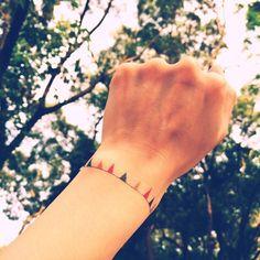 An oh so cute temporary tattoo bracelet.