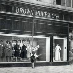 Brown Muff's - very upmarket department store in Bradford, West Yorkshire. Part of my childhood. I remember being treated to cakes and a cup of tea here by my mother. Yorkshire England, West Yorkshire, Old Pictures, Old Photos, British Shop, Bradford City, My Town, Black And White Pictures, Department Store