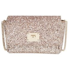 Jimmy Choo 'Ruby' Glitter Clutch (2.655 BRL) ❤ liked on Polyvore featuring bags, handbags, clutches, jimmy choo, nude, pink shopping bag, shopper handbags, imitation handbags, nude clutches and pink handbags
