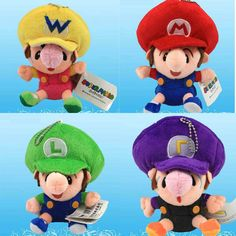 """Find More Movies & TV Information about New 1 PCS Super Mario Bros Baby Toy BB Mario Luigi Wario Waluiji Soft Stuffed Plush Doll Anime Game Approx 14cm/5.5"""",High Quality toy doll,China toy doll clothes Suppliers, Cheap toy hamster from M&J Toys Global Trading Co.,Ltd on Aliexpress.com"""