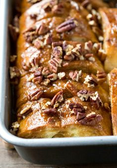 Overnight Sticky Bun French Toast | http://www.ihearteating.com | #frenchtoast #breakfast #recipe