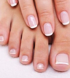 French finger and toe nails