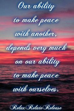 Peace quote via www.Facebook.com/RelaxRelateRelease