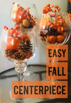 DIY fall decoration easy fast cheap Centerpiece dollar store craft dollar tree supplies 5 minute home decor Simple Centerpieces, Wedding Centerpieces, Coffee Table Centerpieces, Wedding Decorations, Dollar Store Crafts, Deco Table, Fall Home Decor, Fall Table Decor Diy, Thanksgiving Decorations