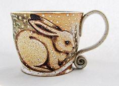 Hey, I found this really awesome Etsy listing at https://www.etsy.com/listing/251159255/winter-rabbit-mug-pottery-mug-rabbit-mug
