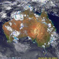 National Radar image:     11:11 UTC  Thu 26 Feb 2015 http://www.bom.gov.au/products/national_radar_sat.loop.shtml