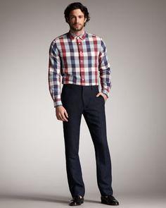 Skinny Linen Pants by Rag & Bone at Bergdorf Goodman.
