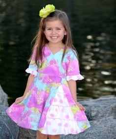 Lavender Peony Vintage Ruffle Dress - Toddler & Girls