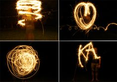 Sparkler Photography: How to do this! Tells you what settings you need your camera on, and lots of other tips! Sweet! Not just for professional photogs to do!