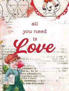 All You Need is Love   Katie Pertiet All Tv, Vintage Valentine Cards, Pocket Cards, All You Need Is Love, Journal Cards, Project Life, Scrapbooking, Faith, Free