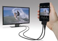 Adapter that lets you connect your phone to your TV #iPhone