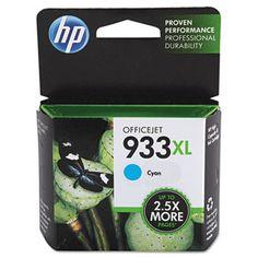 HP 933XL, (CN054AN) High Yield Cyan Original Ink Cartridge