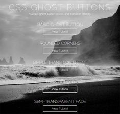 How to Create CSS Ghost Buttons