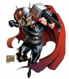 Thor by Joe Quesada and Richard Isanove Marvel Dc Comics, Ms Marvel, Marvel Comic Universe, Marvel Heroes, Rogue Comics, Comics Universe, Comic Book Artists, Comic Book Characters, Marvel Characters