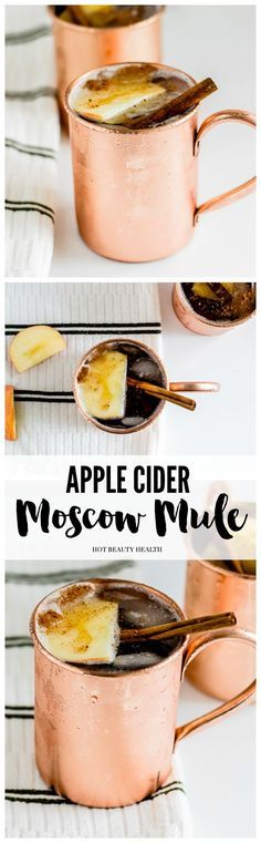 The addition of apple cider pairs perfectly with the ginger beer while the cinnamon adds a lovely fall aroma and flavor to the drink. (Click here for the moscow mule cocktail recipe!)