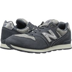 New Balance Classics WL696 Dark Grey/Silver Suede/Textile/Leather - Zappos.