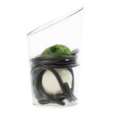 EVO CRISTAL  #Bicchierino liscio con bordo obliquo colore cristal.  Capacità 5 cl, dim ø 44 mm h 74 mm  #bicchiere  http://chsonline.it/p-80!3!20---EVO_CRISTAL
