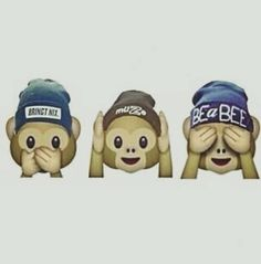 Imagen de emoji, monkey, and wallpaper
