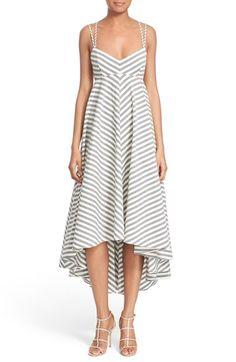 Milly Strappy Stripe Maxi Dress