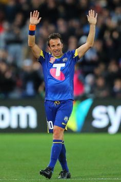 Alessandro del Piero of the All Stars thanks the crowd during the...