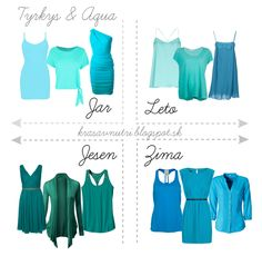 Turquoise and Aqua : spring, summer, fall, winter