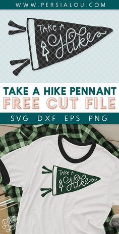 Take a Hike Free Camping SVG Cut File - use this hand drawn take a hike pennant cut file with your silhouette or cricut to make your own camp themed craft projects! Bee Crafts, Vinyl Crafts, Vinyl Projects, Craft Projects, Free Hand Drawing, Cute Cuts, Silhouette Cameo Projects, Svg Files For Cricut, Heat Transfer Vinyl