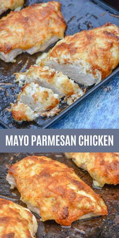 Baked Parmesan Crusted Chicken, Baked Chicken With Mayo, Chicken Parmesan Recipes, Mayo Chicken, Recipe Chicken, Dinner Recipes, Dessert Recipes, Cooking Recipes, Favorite Recipes