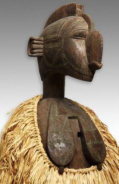 Baga  Guinea    Headdress (Nimba, D'mba, or Yamban), Mid-19th/early 20th century    Wood and metal tacks