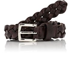 Braided Leather Belt by Barneys New York