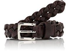 Braided Leather Belt by Barneys New York