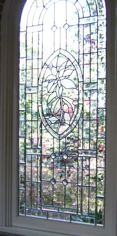 Stained glass window inside chapel at Bellingrath - pic by Rita McCollum - March 2009