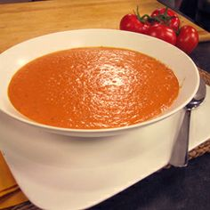 The carrots and tomatoes supply antioxidants that protect your skin and eyes, and the tofu contributes a substantial amount of filling protein. Enjoy a steamy bowl with this soup's classic pairing: a grilled cheese sandwich on whole-grain bread.