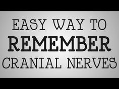 Nursing Tip | Easy Way To Remember Cranial Nerves. You may need this someday soon!