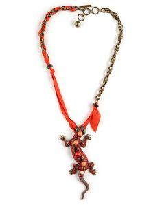 Maria Felix Salamander Necklace....Uploaded By www.1stand2ndtimearound.etsy.com