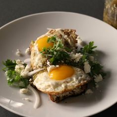 This open-faced fried egg sandwich with salsa verde, avocado, and feta will have you swooning, and definitely too full for school