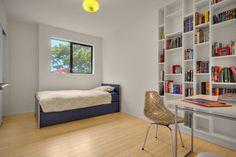 We're loving the sleek Scandinavian vibe of this bedroom. #bamboofloors